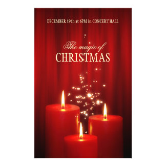Christmas Red Candles event flyer