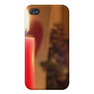 Christmas Red candles iPhone 4 Case
