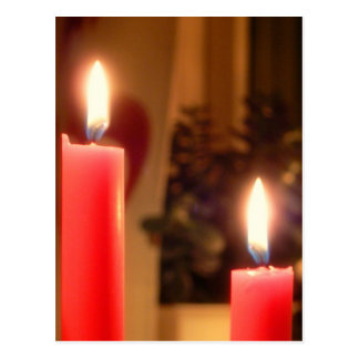 Christmas Red candles Postcard