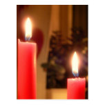 Christmas Red candles Postcards