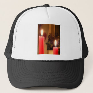 Christmas Red candles Trucker Hat