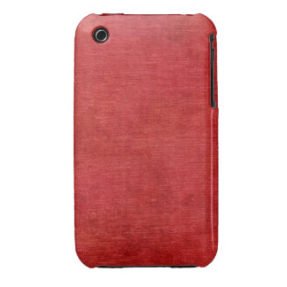 Christmas Red Chenille Fabric Texture iPhone 3 Cover