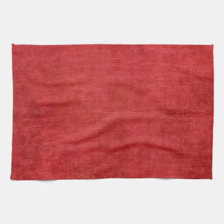 Christmas Red Chenille Fabric Texture Hand Towel