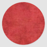 Christmas Red Chenille Fabric Texture Round Stickers