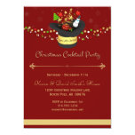 Christmas Red Cocktail Party Invitation