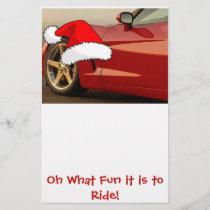 Christmas Red Corvette