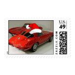 Christmas Red Corvette Classic Split Window Stamps