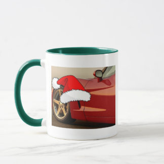 Christmas Red Corvette Mug