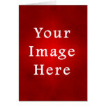 Christmas Red Crimson Parchment Gradient Template Stationery Note Card