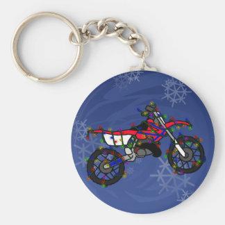 Christmas Red Dirt Bike Key Chain