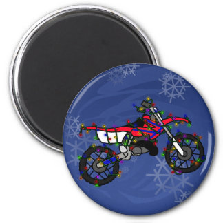 Christmas Red Dirt Bike Magnets