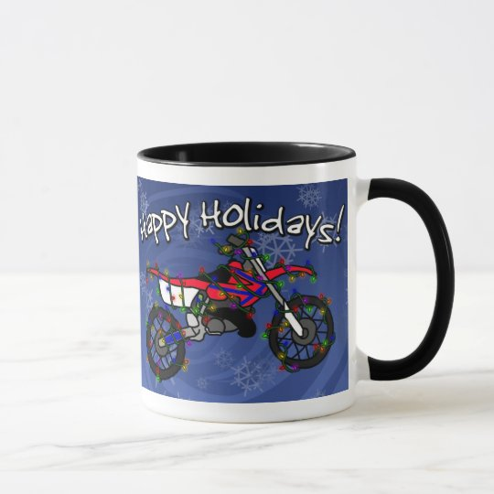 Christmas Red Dirt Bike Mug