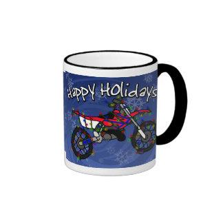 Christmas Red Dirt Bike Mugs