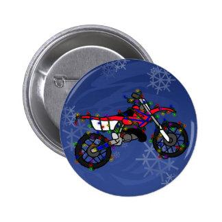 Christmas Red Dirt Bike Pins
