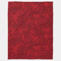 Christmas Red Fleece Blanket