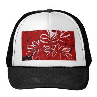 Christmas Red Flowers in Snow Cap Trucker Hat