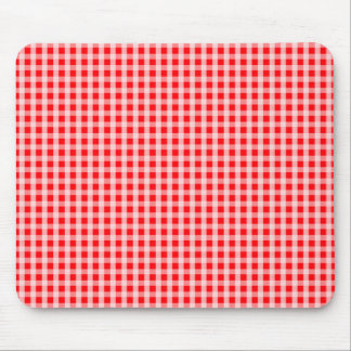 Christmas Red Gingham Check Plaid Pattern Mouse Pad