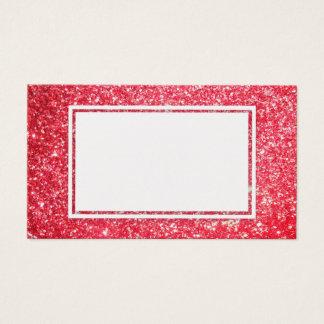 Christmas Red Glitter, Sparkle Customizable Card