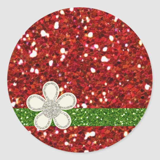 Christmas Red Glitters Sticker