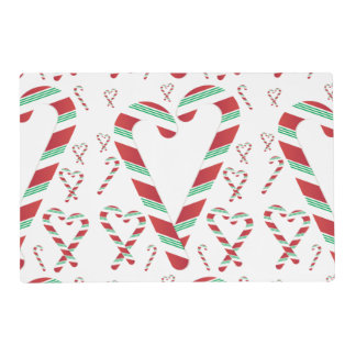 Christmas Red & Green Candy Cane Placemat