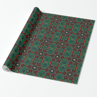 Christmas Red Green Design Wrapping Paper
