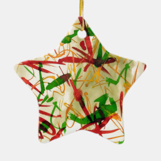 Christmas Red Green Star Ornamet Christmas Tree Ornament