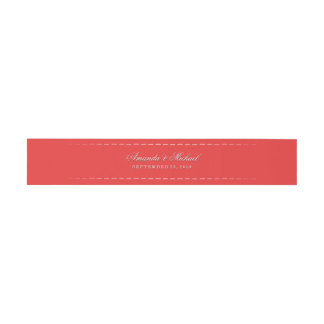 Christmas Red Matching Belly Bend for Floral Invitation Belly Band