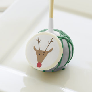 Christmas Red Nose Reindeer Holiday Party Cake Pops