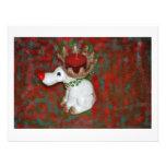 Christmas Red Nose Reindeer Moose Custom Invites