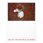 Christmas Red Nose Reindeer Moose Letterhead
