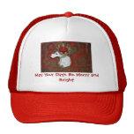 Christmas Red Nose Reindeer Moose Trucker Hat