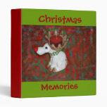 Christmas Red Nose Reindeer Moose Vinyl Binders