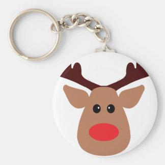 Christmas Red Nosed Reindeer Keychain
