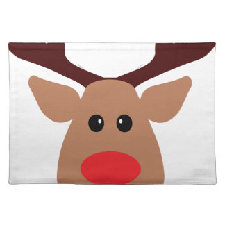 Christmas Red Nosed Reindeer Place Mat