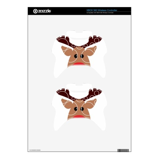 Christmas Red Nosed Reindeer Xbox 360 Controller Decal