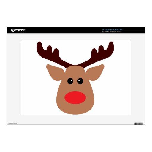 Christmas Red Nosed Reindeer Laptop Skins
