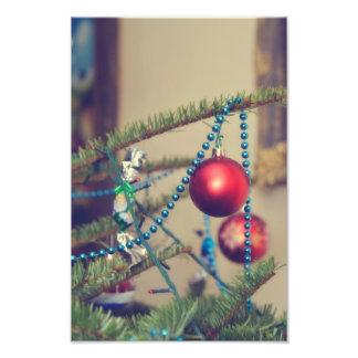 Christmas red ornament photo print