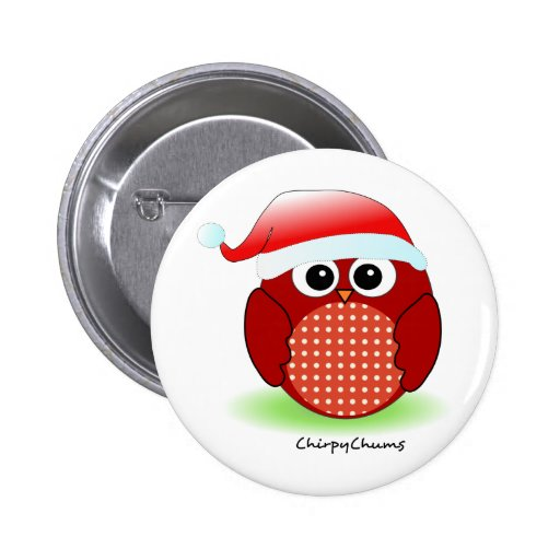 Christmas Red Owl Pins