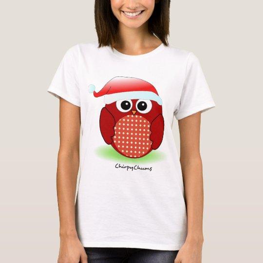 Christmas Red Owl T-Shirt