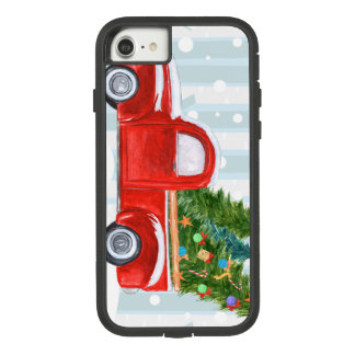 Christmas Red PickUp Truck on a Snowy Road Case-Mate Tough Extreme iPhone 8/7 Case