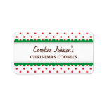 Christmas red polka dots canning jar label
