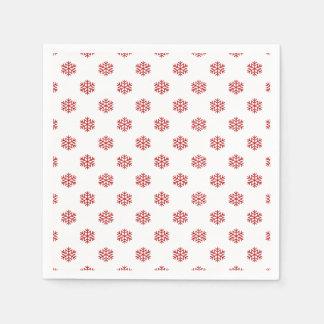 Christmas Red Snow Flake Paper Napkins
