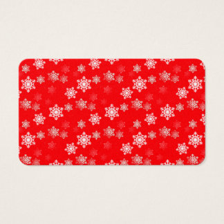 Christmas Red Snow Flurries Business Card