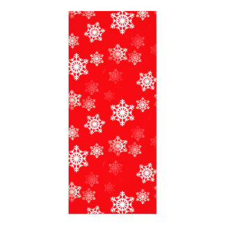 Christmas Red Snow Flurries Card