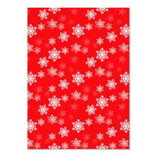 Christmas Red Snow Flurries 4.5x6.25 Paper Invitation Card
