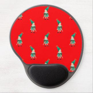 Christmas Red Toddler Children Elves Pattern Gel Mouse Pad