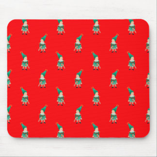 Christmas Red Toddler Children Elves Pattern Mouse Pad