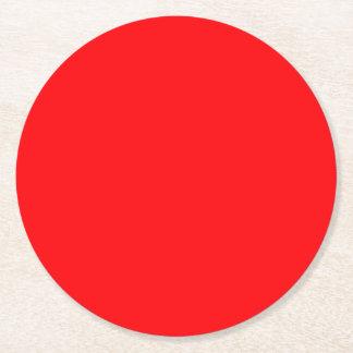 Christmas Red Velvet Round Paper Coaster