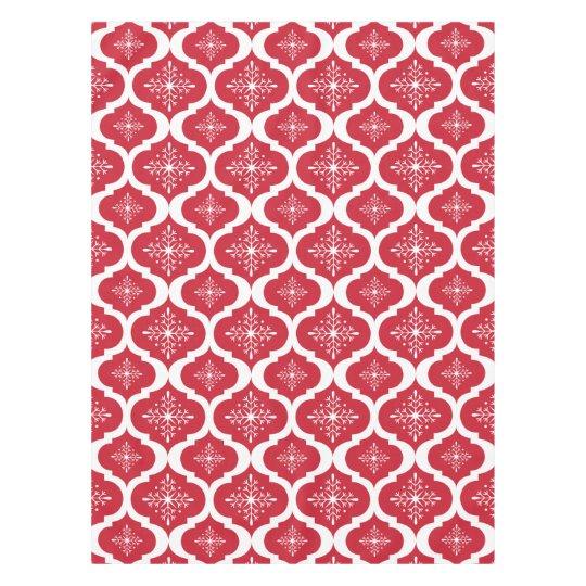 Christmas Red White Snowflakes Lattice Pattern Tablecloth Zazzlecom