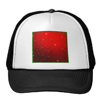 Christmas Red White Star Decotation Mesh Hat